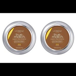 Lot of 2 Loreal True Match Powder W10 DEEP GOLDEN